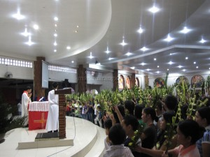 Blessing of Palms at the Altar