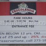 Crocolandia Entrance Fee
