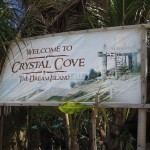 Welcome sign of Crystal Cove
