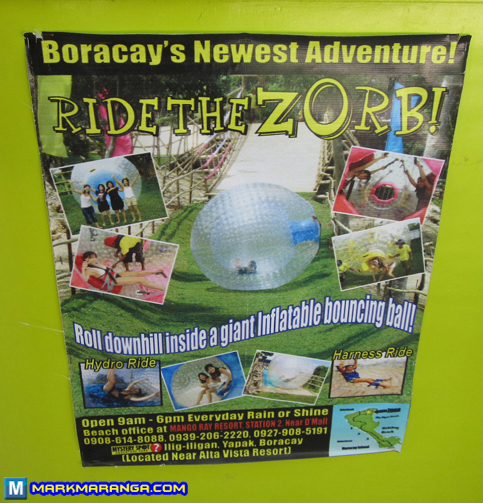 Ride the Zorb Information