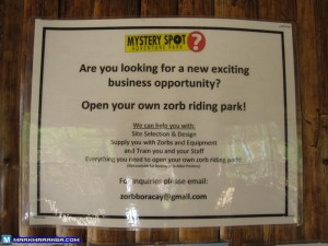 Open your own Zorb Riding Park