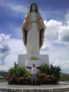 Mark with the Big Mother Mary at Q Park
