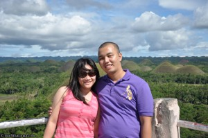 Mark and Lisa at Chocolate Hills