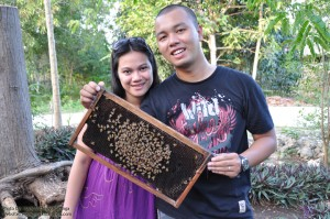 Mark and Lisa with the Bees