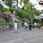 Foreigners visiting Cebu Taoist Temple
