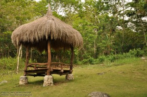 Hut for picnic and resting