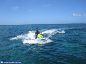 Mark driving the Jet Ski