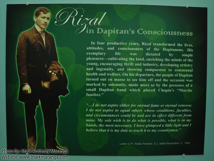 rizal achievements in dapitan Rizal sa dapitan (lit rizal in dapitan) an organization composed of prize-winning writers and movie columnists, for achievements in the philippine cinema for a.
