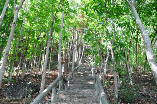 Stairs going to Ilihan Hill