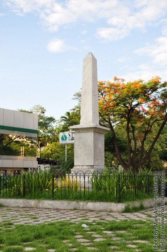 Marker in the middle of Rajah Humabon park