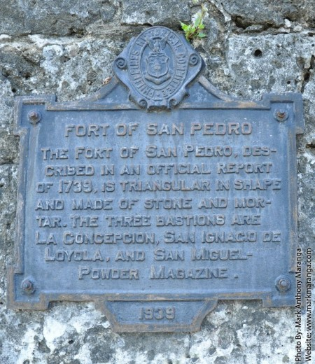 The marker of Fort San Pedro