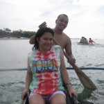 Paddling the Outrigger