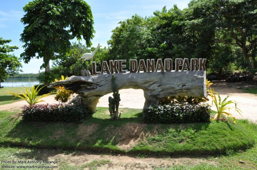 Signage of Lake Danao Park