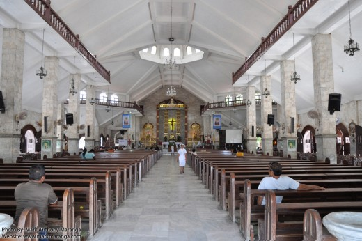 Interiors of Santo Tomas de Villanueva Church