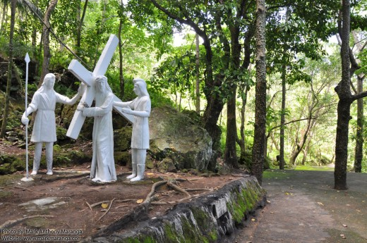 Statues depicting the Stations of the Cross