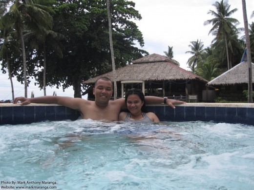 Mark and Lisa at the Jacuzzi