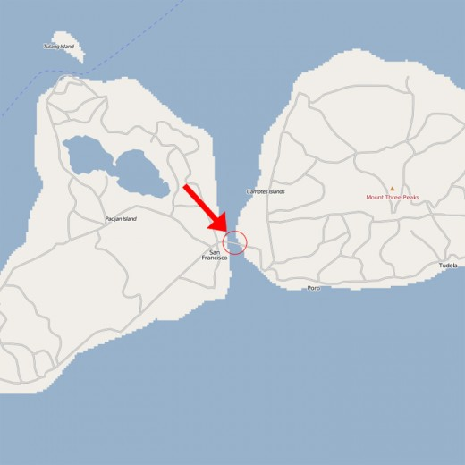 Location of the Causeway