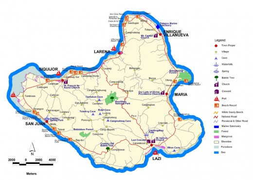 Map of Siquijor Island