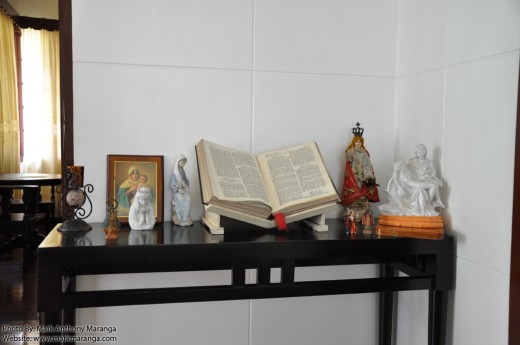 Bible and Saints in Macapagal House
