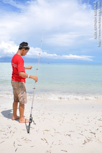 Brother Constantine trying to find some fish
