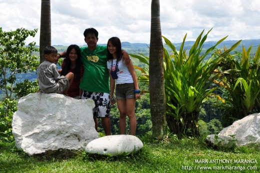 My Family enjoying at Bukidnon View Deck