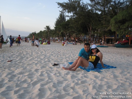 Mark and Lisa in Boracay Beach