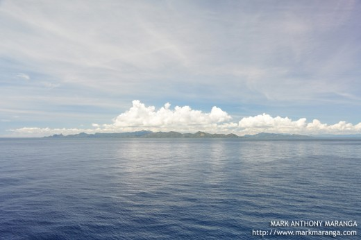A view of Mindanao Island from Dumaguete Port