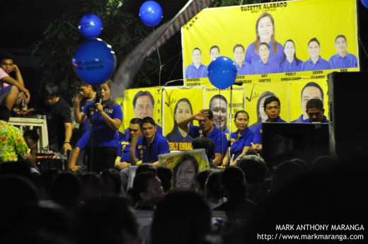 Convincing to vote her in the Barangay Elections