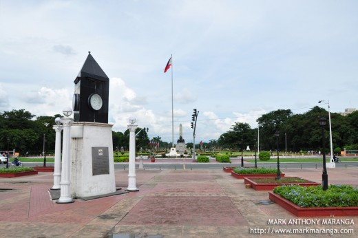 Kilometer Zero Landscape View with Rizal Park as Backdrop