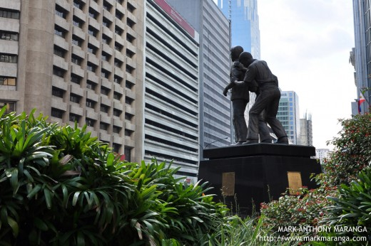 Ninoy Aquino Monument in the Financial Center of Makati