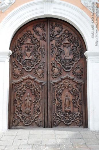 Ornately Carved Wood - Doors of San Agustin Church