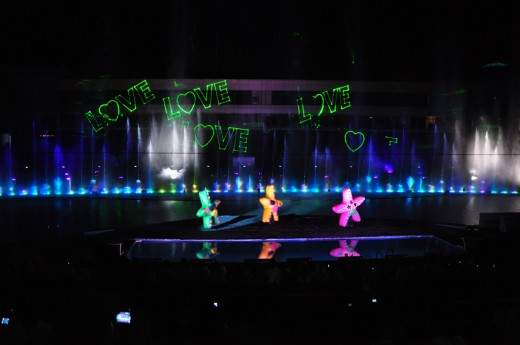 Star Characters of the Musical Fountain