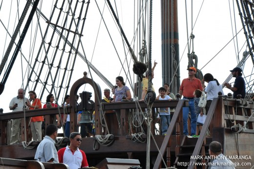 Visitors at the Front Deck of Galleon Andalucia