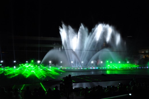 Wave and Fountain formed by Light