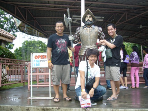 With the Guard Statue
