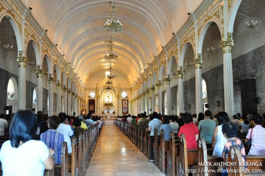 Interiors of San Sebastian Cathedral in Bacolod