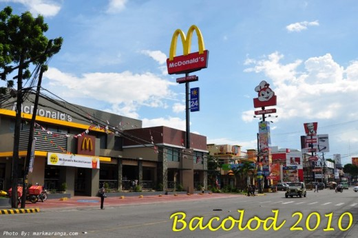 McDonalds, Jolibee, KFC in Bacolod
