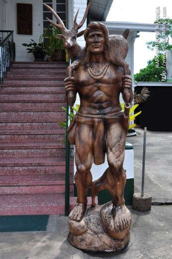 Statue made of wood