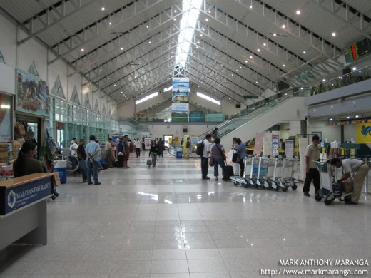 Inside the Davao International Airport Terminal