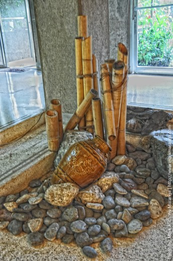 Bamboo, Stones and Jar