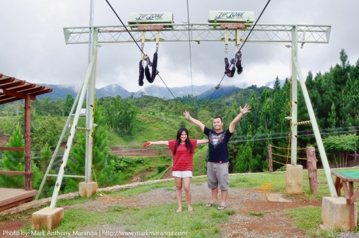 Mark and Lisa at Zip Zone