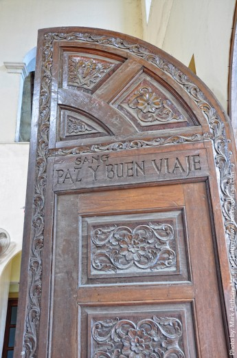 Ornately Carved Door of La Paz Church