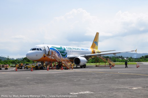 Cebu Pacific A320 Plane at Legazpi Airport