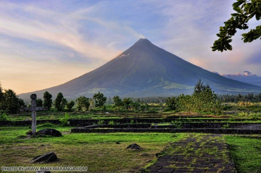 Landscape View of Mayon Volcano