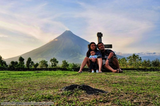 Mark, Lisa and Sam - Mayon Volcano