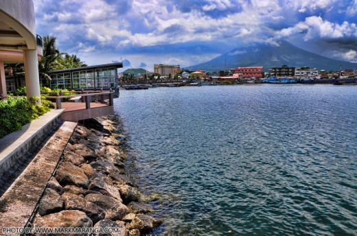 View of Legazpi Port & Mt. Mayon from Embarcadero