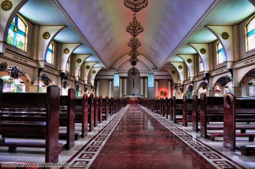 Inside the Our Lady of Peace and Good Voyage Church