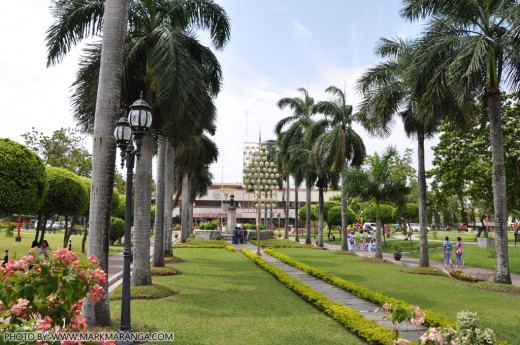 Inside the Plaza Heneral Santos