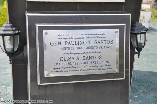 Remains of General Santos and Wife
