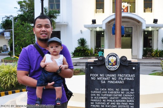 Mark and Sam at Site of the First Flag raising in Mindanao